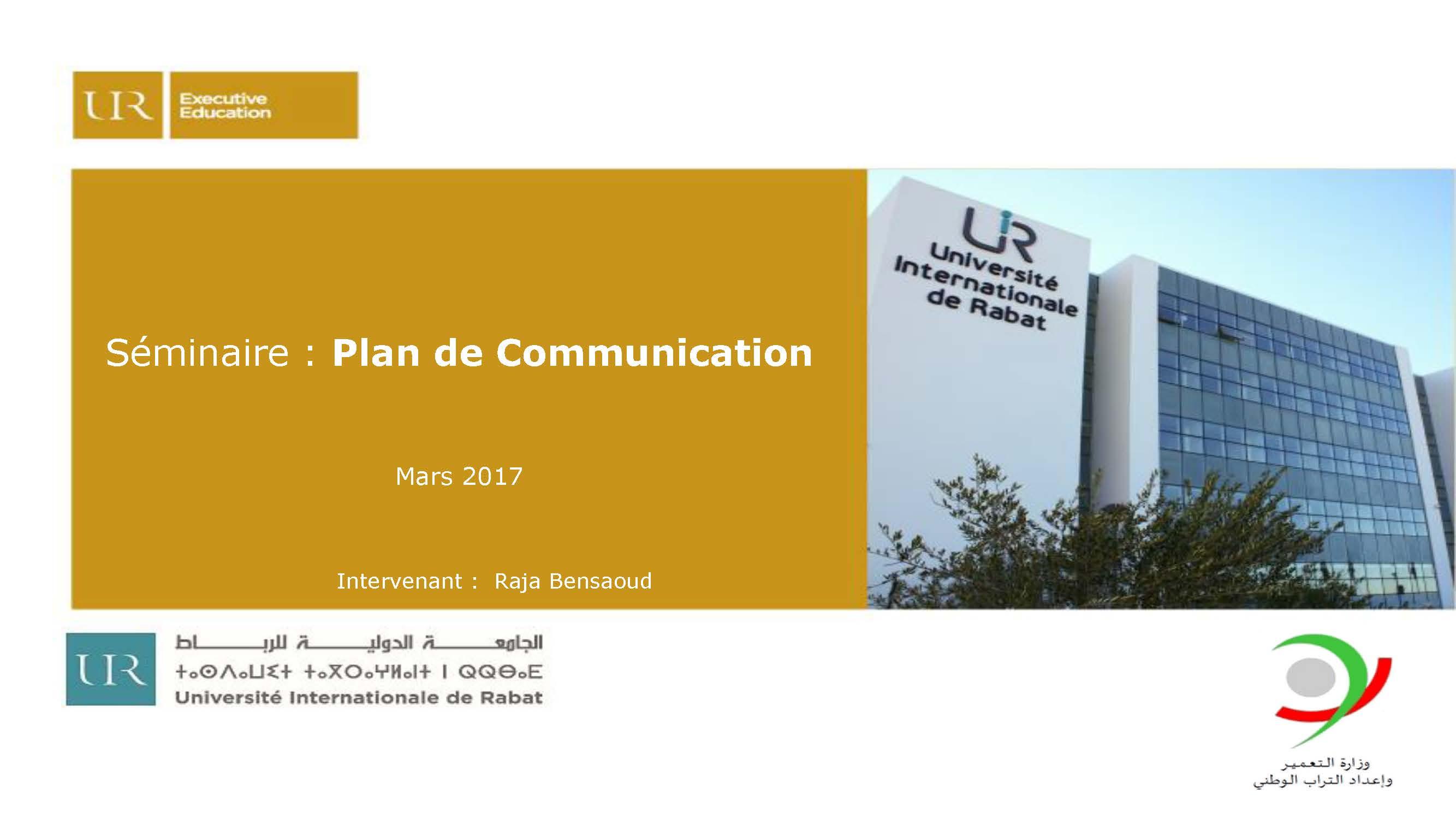 Rabat, le 09 -10  Mars 2017
