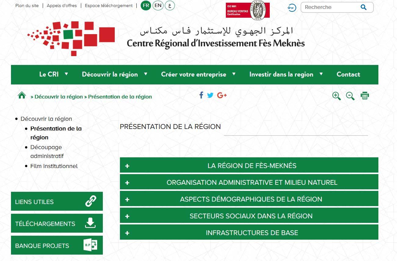 Tableau de bord de suivi de la situation économique de la région Fès-Meknès