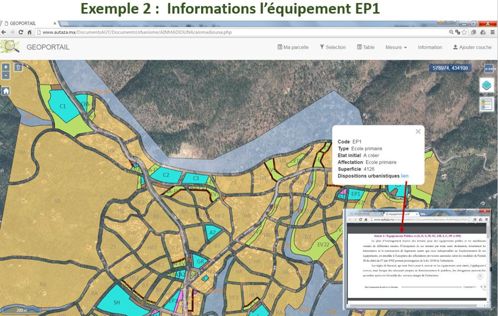 Exemple de consultation des informationsd'un équipement